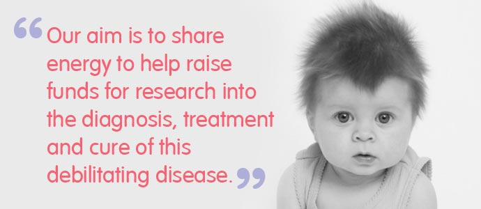 Our aim is to share energy to help raise funds for research into the diagnosis, treatment and cure of this debilitating disease