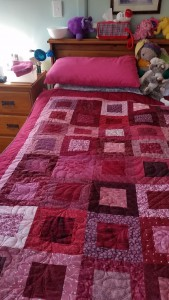 A quilt made for a young mito patient