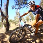 Melinda on her mountain bike
